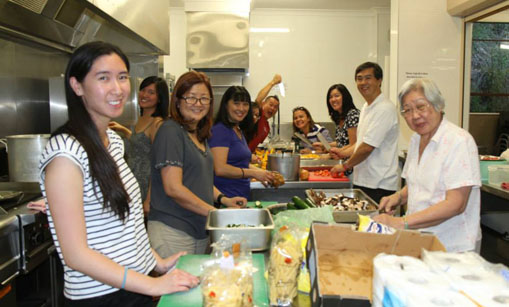 Epping Members cooking up a storm at Church Camp
