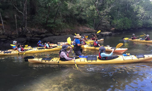 Pathfinders on a Kayaking trip